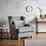 Tv Křeslo Matteo - šedá, Moderní, dřevo/textil (86/86/90cm) - Mömax modern living