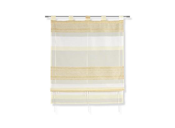 Raffrollo Florina - Gelb, MODERN, Textil (80/140cm) - Luca Bessoni