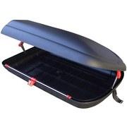 Dachbox Solido I - Schwarz/Grau, Kunststoff/Metall (132/78/35cm)