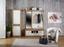 Garderobe Malta - Eichefarben/Weiß, MODERN, Holzwerkstoff (130/196,8/36cm)