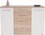 Tálalószekrény Angol - Tölgyfa/Homok, modern, Faalapú anyag (138/89/38cm)