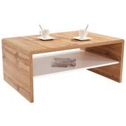 Couchtisch Holz mit Ablage Cala Luna, Wotan Eiche Dekor - Dunkelbraun/Weiß, MODERN, Holzwerkstoff (100/40/59cm)
