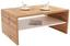 Dohányzóasztal Cala Luna - Sötétbarna/Fehér, modern, Faalapú anyag (100/40/59cm)
