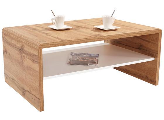 Konferenčný Stolík Cala Luna - biela/tmavohnedá, Moderný, kompozitné drevo (100/40/59cm)