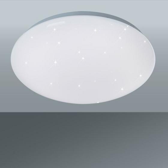 Led Stropná Lampa Starlight - biela, Moderný, umelá hmota (30/10cm)