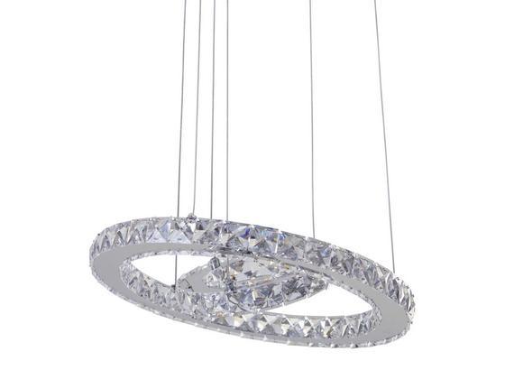 Led Závesná Lampa Forli -eö- - chrómová, Moderný, kov/plast (40/100-150cm) - Mömax modern living