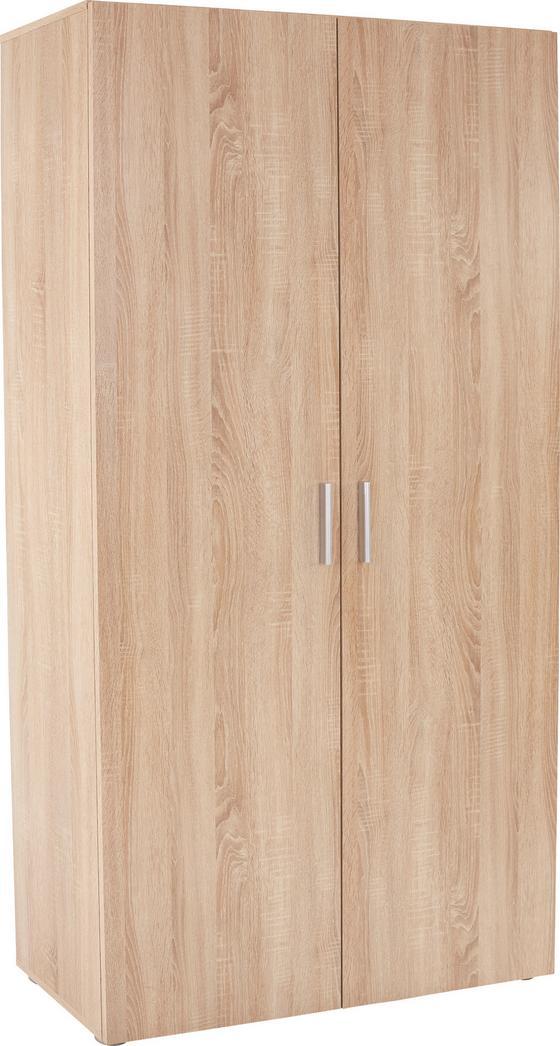 Botník Jana - Sonoma dub, Moderní, dřevěný materiál (100/191/37cm)