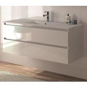 Waschtischkombi Allibert Alma B: 120 cm Weiß - Weiß, MODERN, Keramik/Holzwerkstoff (121cm) - MID.YOU