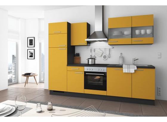 Küchenblock Turin 280cm Curry - Currygelb, LIFESTYLE, Holzwerkstoff (280cm) - Qcina