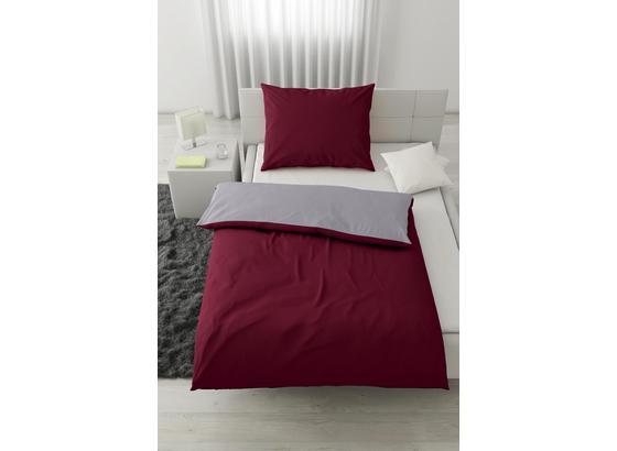 Posteľná Bielizeň Belinda 140x220 Cm - bordová/strieborná, textil (140/220cm) - Premium Living