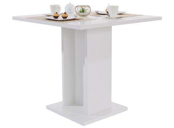 Jídelní Stůl Sigmund 80 - bílá, Konvenční, kompozitní dřevo (79,5/74/79,5cm)