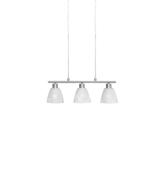 Hängeleuchte Renate - Nickelfarben, KONVENTIONELL, Glas/Metall (53cm) - Ombra