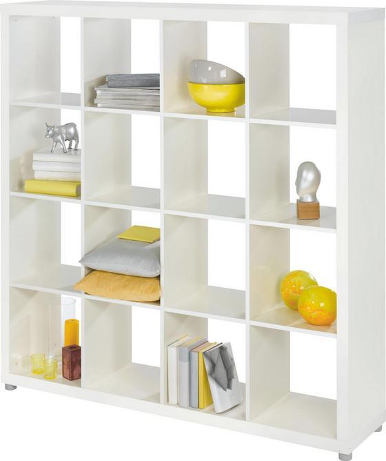 Regál Aron 16 - bílá, Moderní, dřevěný materiál (153,8/156,6/35cm)