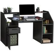 Schreibtisch Enter Etrb01 - Graphitfarben, MODERN, Holzwerkstoff (160/95,7/71,5cm)