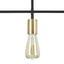 Stropná Lampa Lys 40/68cm, 40 Watt - čierna, Štýlový, kov - Modern Living
