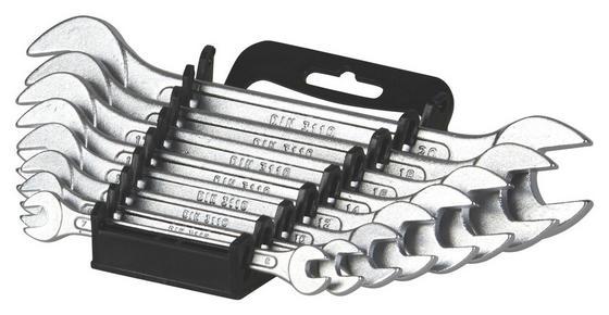 Gabelschlüsselsatz 8-teilig - Silberfarben, KONVENTIONELL, Metall