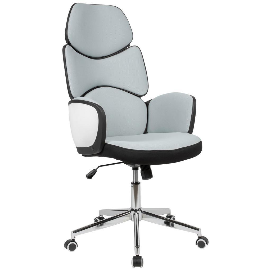 kancelárske kreslo svetlá sivá/čierna