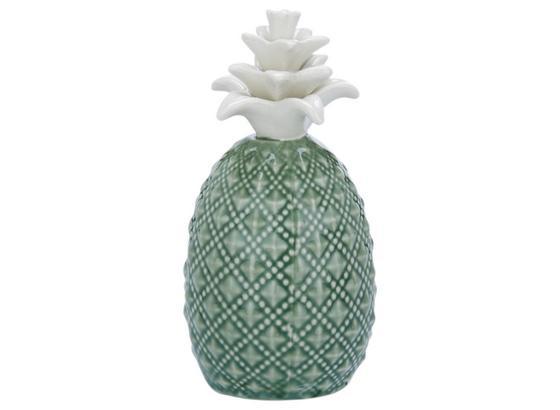 Dekorační Ananas Delia - bílá/zelená, keramika (6,5/6,5/12cm) - Mömax modern living