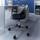 Otočná Stolička Nico - čierna/chrómová, Moderný, umelá hmota/kov (58/80,5/64cm) - Modern Living