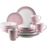 Kombiservice Kitchen Time II 16-Tlg. - Rosa, Basics, Keramik
