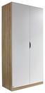 Drehtürenschrank Freising 91 cm Eiche/Weiß - Weiß/Sonoma Eiche, MODERN, Holzwerkstoff (91/197/54cm)