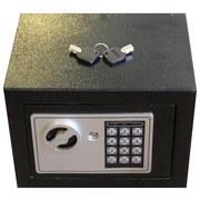 Tresor Elektr.tresor Kynast Exklusiv - Silberfarben/Schwarz, Kunststoff/Metall (23/17/17cm)