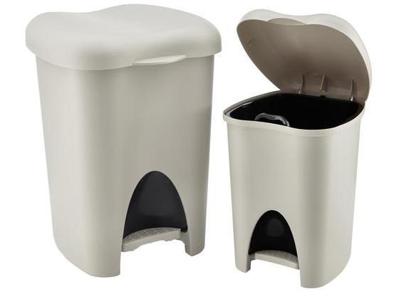 Sada Odpadkových Košů Laura - šedá/černá, umělá hmota (31/29/39cm)