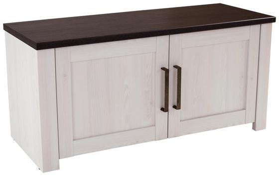 Lavica Provence - biela/farby wenge, Moderný, kompozitné drevo (116/49/42cm) - James Wood