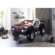 Kinder-/Juniorbett Jeep 90x200 cm Schwarz - Schwarz, Basics, Holzwerkstoff (213,2/120/81,3cm)