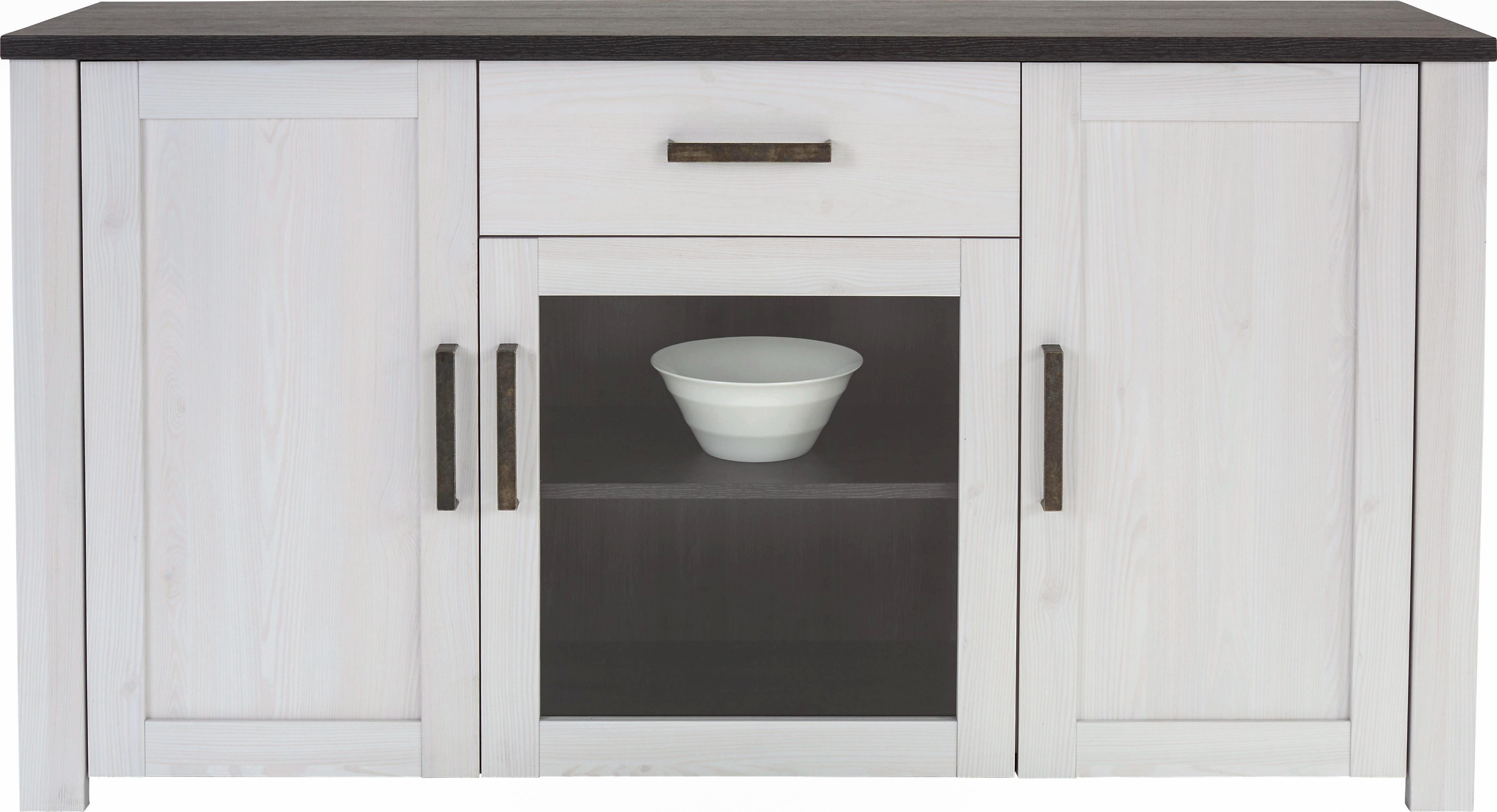 Tálalószekrény Provence - tiszta/fehér, romantikus/Landhaus, faanyagok (153,9/82,3/42cm) - JAMES WOOD