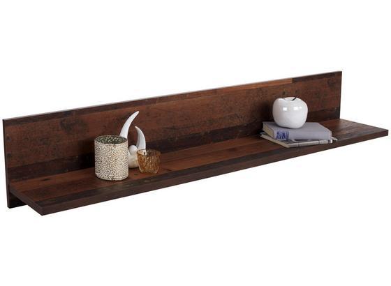 Nástenná Polica Clif - Moderný, kov/kompozitné drevo (160/26/22cm)