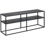 TV-Element Virum B: 120 cm Schwarz - Schwarz, Trend, Metall (120/46/30cm) - Carryhome