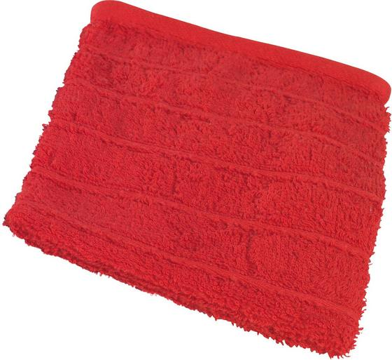 Waschlappen Lilly - Rot, KONVENTIONELL, Textil (16/21cm)