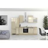 Küchenblock Nepal 310 cm Cremefarben - Kaschmir/Weiß, MODERN, Holzwerkstoff (310cm) - MID.YOU