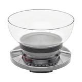 Küchenwaage Till - Klar/Grau, MODERN, Kunststoff (18/12,4cm) - Luca Bessoni