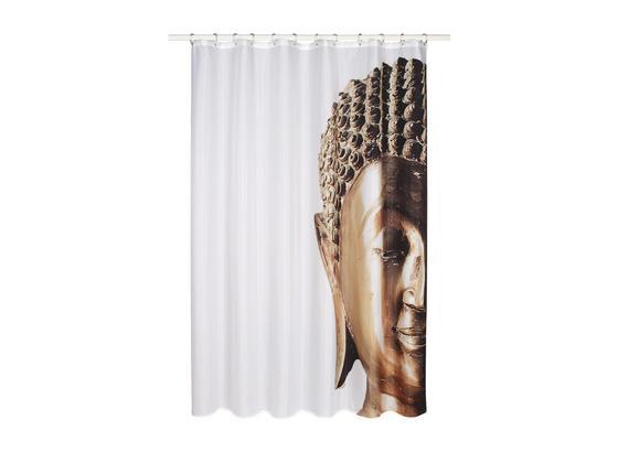 Sprchový Závěs Buddha - barvy zlata, Lifestyle, textil (180/200cm) - Mömax modern living