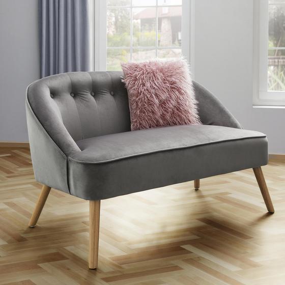 Lavice Sophia - sivá, Moderný, drevo/textil (126,5 77 75cm) - Mömax modern living