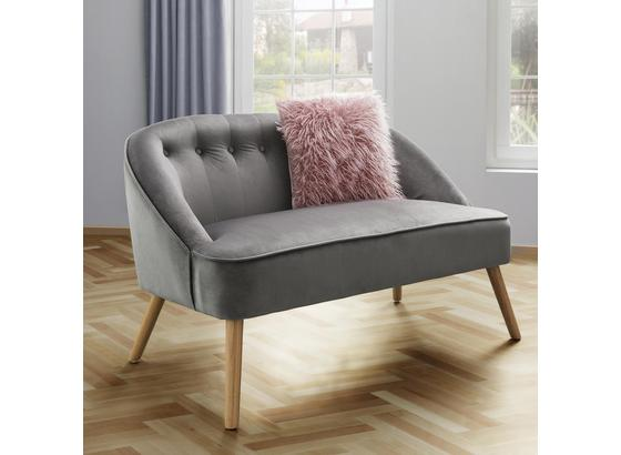 Lavice Sophia - sivá, Moderný, drevo/textil (126,5/77/75cm) - Mömax modern living