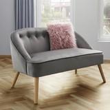 Sedací Lavice Sophia - šedá, Moderní, dřevo/textil (126,5/77/75cm) - Mömax modern living