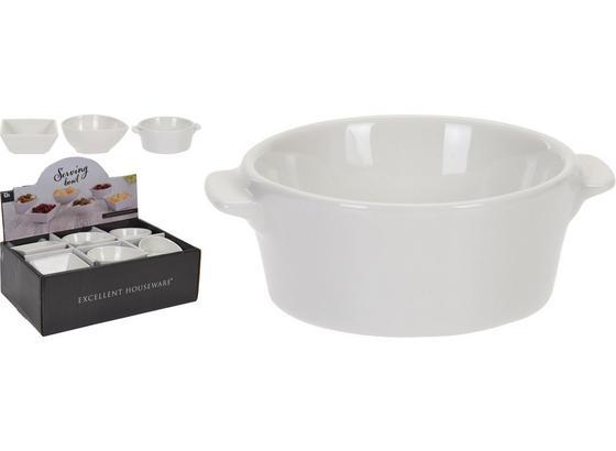 Snackschale Weiß - Weiß, KONVENTIONELL, Keramik (10/7,5/4,5cm)