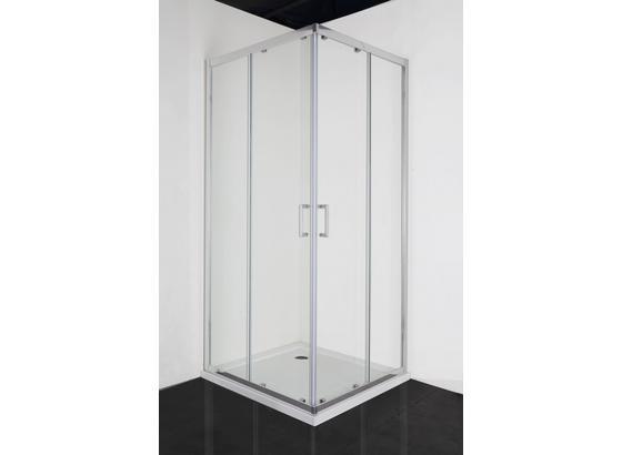 Duschkabine Elite 90x195x90cm - Chromfarben, LIFESTYLE, Glas (90/195/90cm)