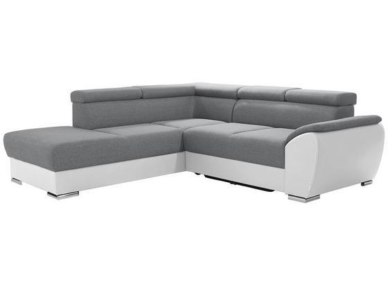 Sedacia Súprava Cuba - biela/svetlosivá, Moderný, textil (230/265cm) - Luca Bessoni