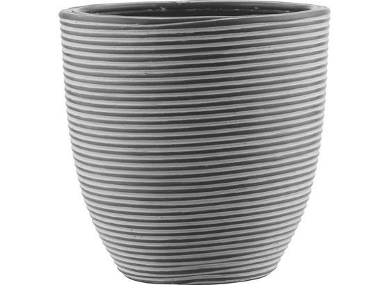 Kvetináč Marlene - M - čierna, Štýlový, plast (21/21cm) - Mömax modern living