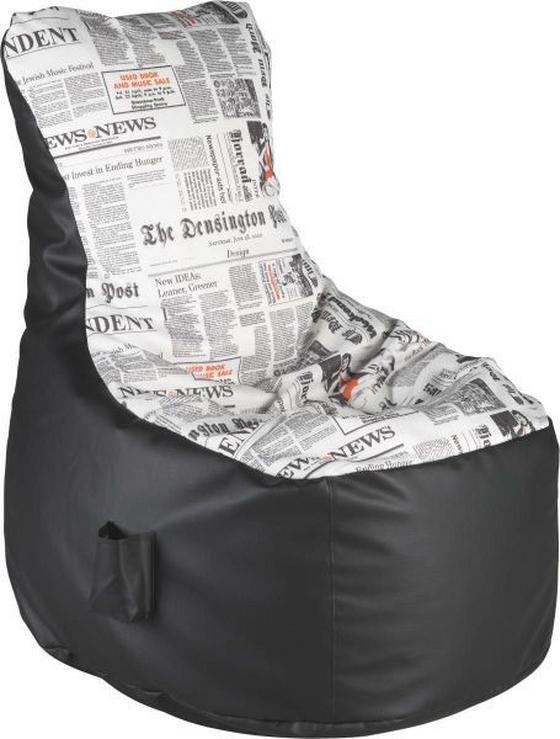 Sedací Pytel Cortona - bílá/černá, Konvenční, textil (85/100/85cm)