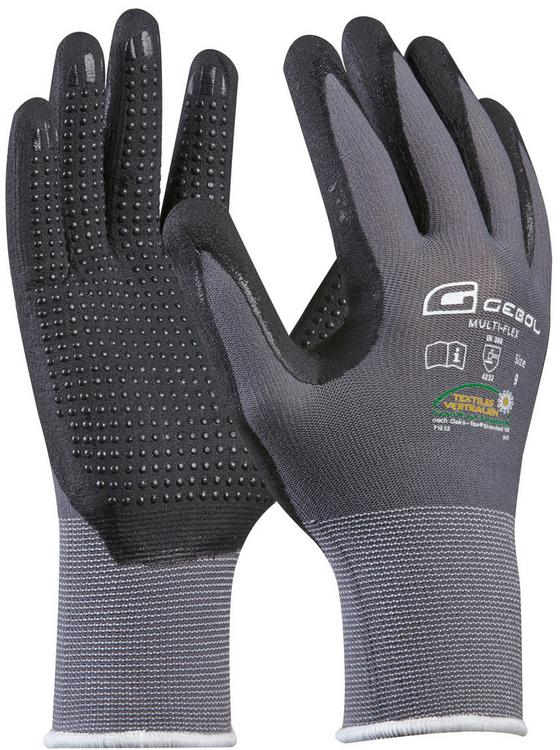 Kesztyű 709278 - fekete/szürke, konvencionális, textil (22cm)