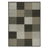 Flachwebeteppich Caro - Anthrazit/Silberfarben, Basics, Textil (120/170cm) - Ombra