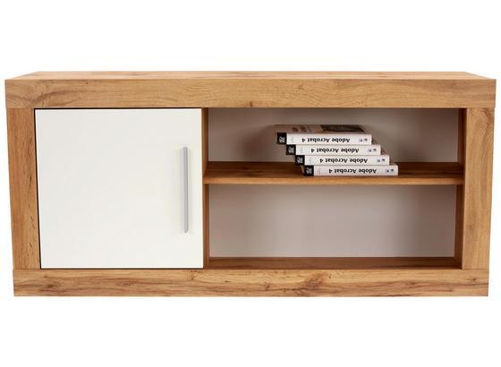Závesný Diel Frame - farby dubu/biela, Konvenčný, kompozitné drevo (122/55/30cm)