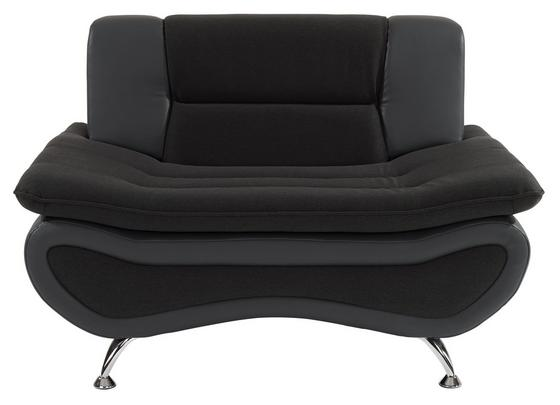 Fotel Atlantis - Antracit/Szürke, modern, Textil (116/81/89cm)