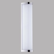 LED-Decken- Wandleuchte Gita 2 - Chromfarben/Weiß, MODERN, Kunststoff/Metall (35/7,5/7,5cm)