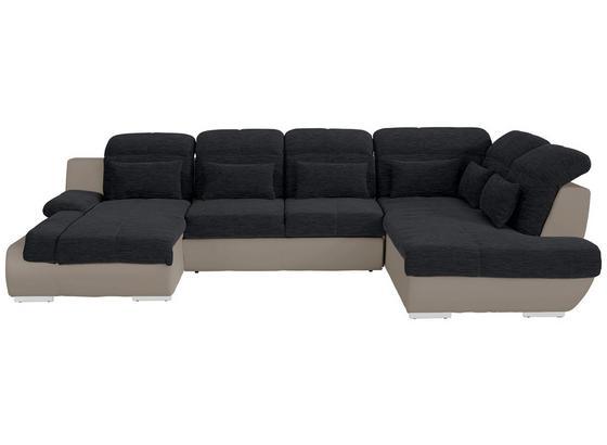 Sedacia Súprava Multi - čierna/piesková, Moderný, textil (184/345/228cm)